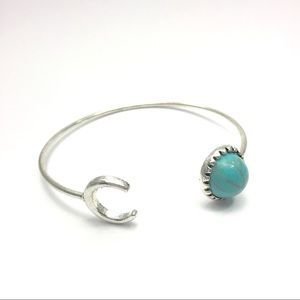 Jewelry - silver and turquoise open  bracelet cuff